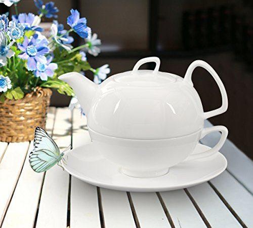 buchensee porzellan tea for one tea4one teeservice teeset 4 teilig schwanensee 550ml. Black Bedroom Furniture Sets. Home Design Ideas