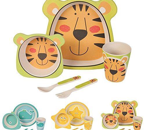 kaufdichgruen bio kinder geschirr set tiger bambus. Black Bedroom Furniture Sets. Home Design Ideas