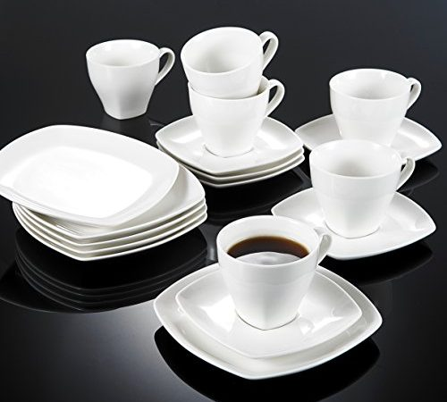 vancasso candela 18 teilig kaffeeservice aus fein bone china porzellan mit jeweils 6. Black Bedroom Furniture Sets. Home Design Ideas