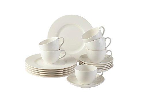 vivo villeroy boch group 19 5217 7126 basic kaffee set 18 teilig geschirrsets keramik wei. Black Bedroom Furniture Sets. Home Design Ideas