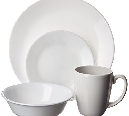 corelle geschirr set winter frost white aus vitrelle glas f r 4 personen 16 teilig splitter. Black Bedroom Furniture Sets. Home Design Ideas