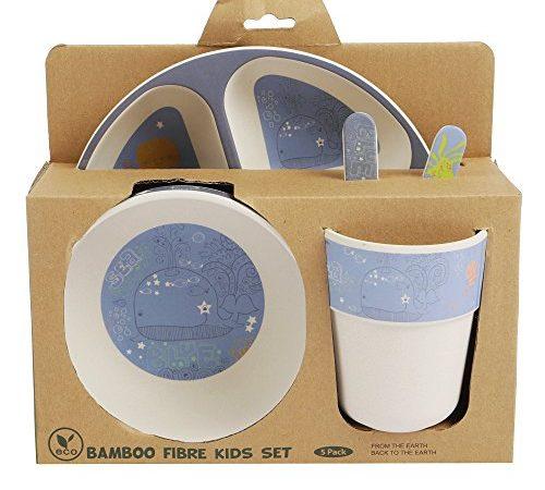 bambus geschirr set f r kinder runder bambusteller kinder besteck bambus schale kinderbecher. Black Bedroom Furniture Sets. Home Design Ideas